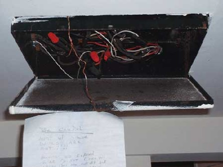 grounding wire attached to exterior of the electrical case